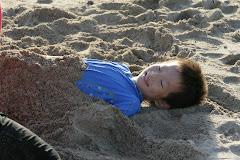 Evan Under The Sand