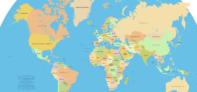 La mayoría de los mapas