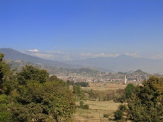 The view of the Himalaya from the center