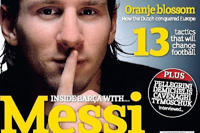 Barcelona player Lionel Messi gave an interview an interview to Champions, ...
