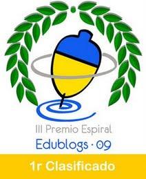 1r PREMI EDUBLOGS 2009