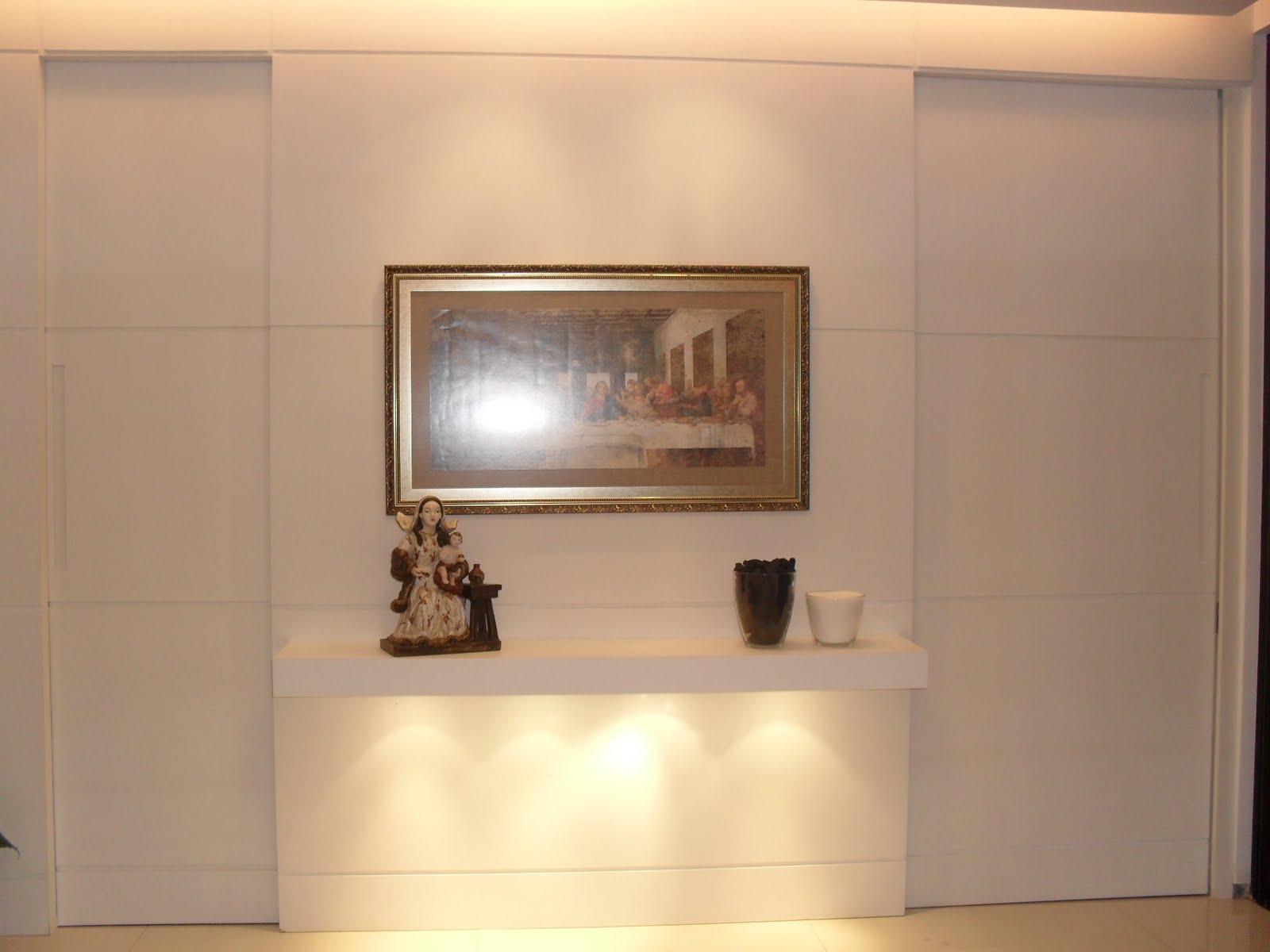 Adesivos Para Roupas De Festa Junina ~ Painel em laca branca com aparador suspenso Designer de Interiores