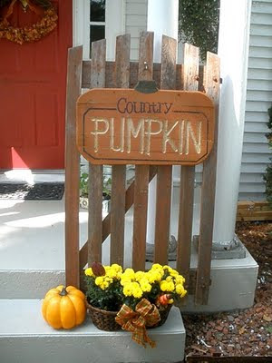 It Is Currently Decorated For Fall. I Love The Old Gate. I Tend To Leave It  Out Year Round Just Changing The Decorations On It.