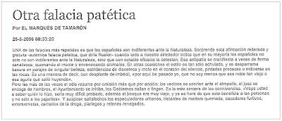 Otra falacia patetica. Imagen del diario ABC. Marques de Tamaron