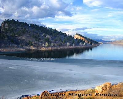 Horsetooth Reservoir near Fort Collins Colorado.
