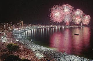 Rio de Janeiro festa de fim de ano fogos de artifício