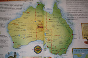 The map of Australia. This is just a test. We set off from Sydney and head .