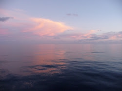 Sunset on a Flat Dead Calm Sea