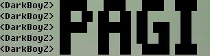 big font tulisan besar