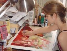Amélie Callot à ses pinceaux!