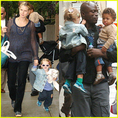heidi klum and seal family. heidi klum seal