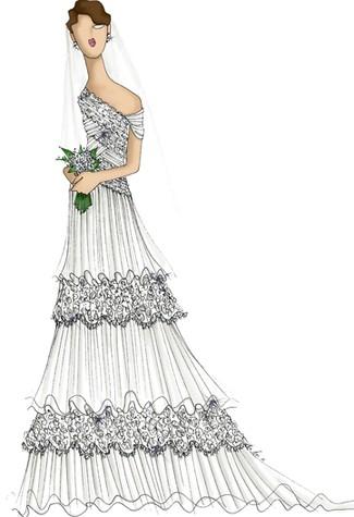 kate middleton wedding dress sketch. kate middleton wedding dress