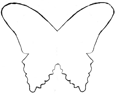 Mel stampz butterfly template tutorial like the one on for Butterfly paper cut out template