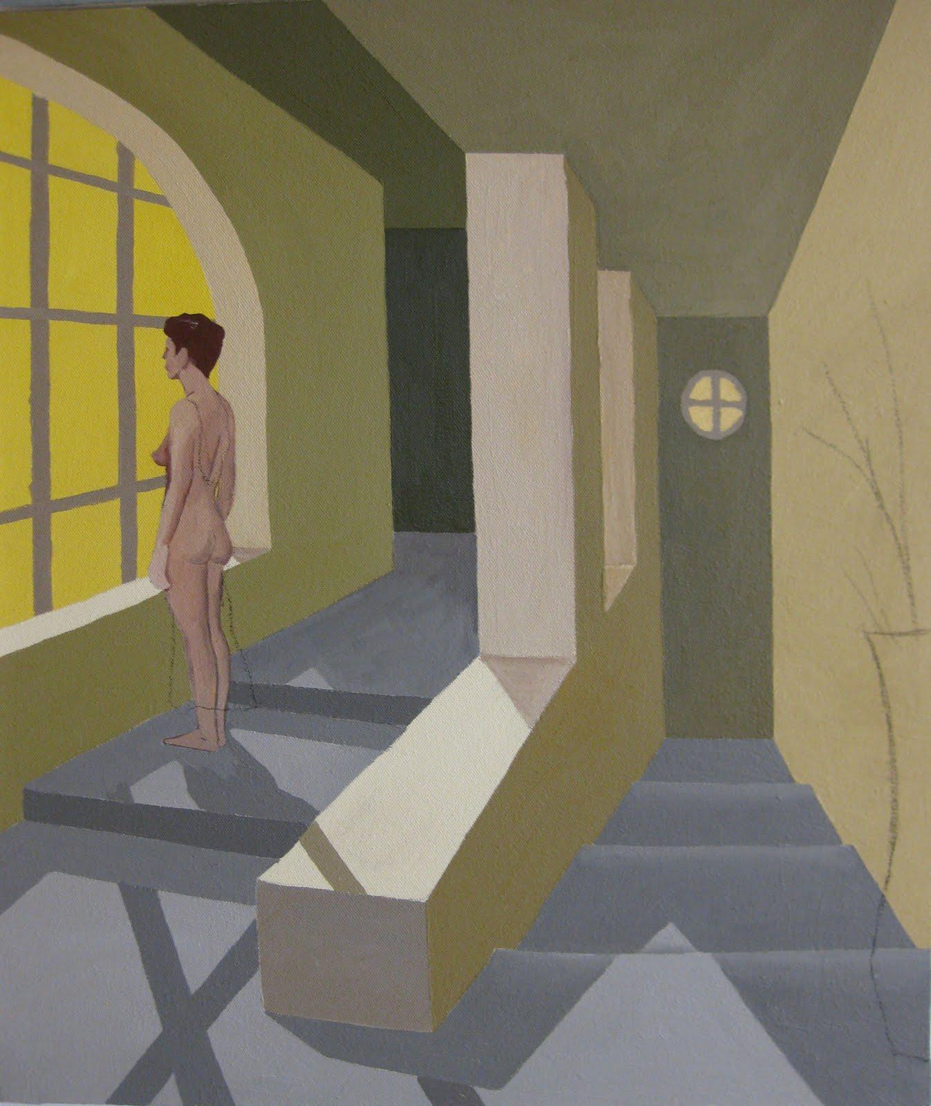 Raquel mira bastidas el final de la escalera - Cuadros para subida escaleras ...