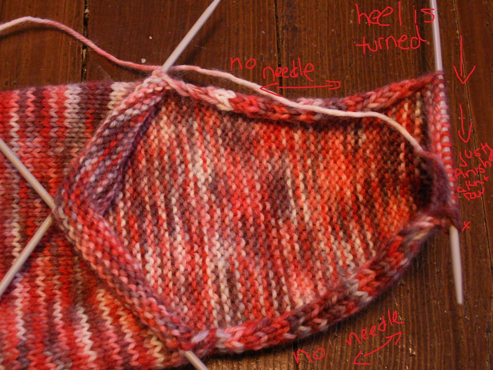 Picking Up Stitches In Knitting Socks : Mistress of Knitting: Knitting Top-Down Socks, Part 3 - Picking up stitches f...
