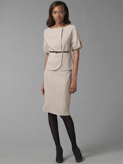 Magaschoni Collection ecru wool jacket and high waist skirt. Visit ...