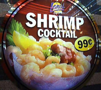 99 Cent Shrimp Cocktail Review On Fremont Street The Casinos Are Side By And Is Closed To Cars Like Promenade 3rd