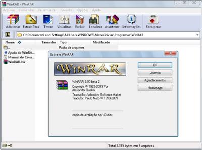 WinRAR 3.90 Ativado