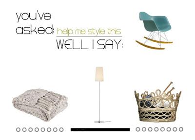 Help me style this: La sedia a dondolo