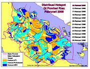 Hotspot di Riau Musim Kemarau
