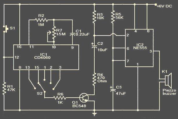 Koleksi skema rangkaianartikel elektronika august 2009 rangkaian timer dengan alarm ccuart Choice Image