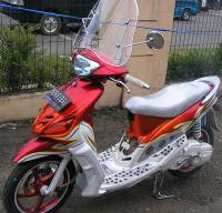 Yamaha mio air brush Modification
