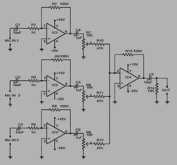 Koleksi skema rangkaianartikel elektronika september 2009 pre amp mic 3 input ccuart Choice Image