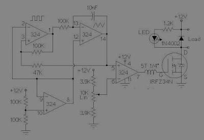 Rangkaian PWM Motor/Light Controller