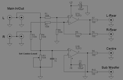 Rangkain Surround Berbasis Op-Amp