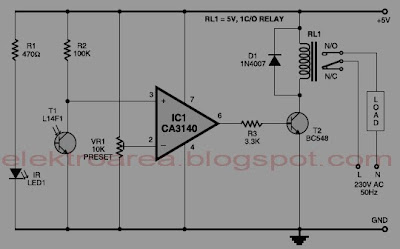 control relay menggunakan infra-red