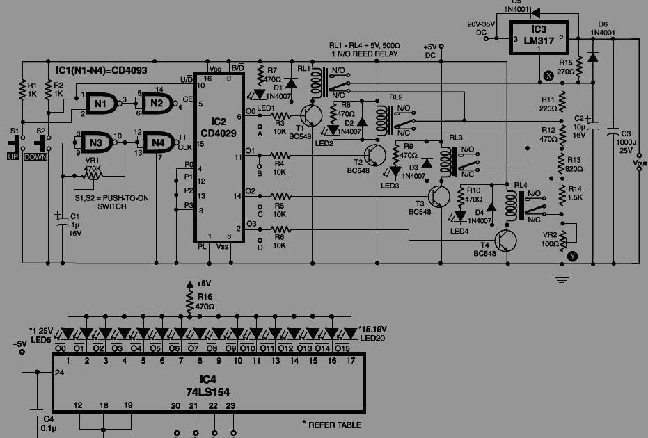 1 25v adaptor variabel digital