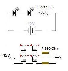 rangkaian lampu led untuk