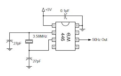 Rangkaian 50Hz Accurate Oscillator
