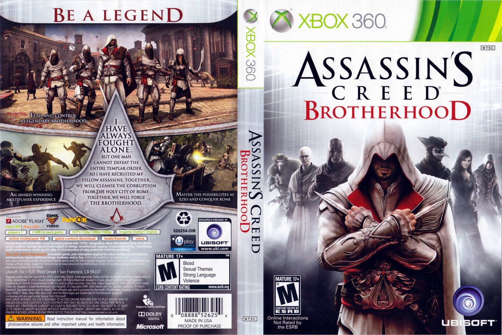 games covers assassins creed brotherhood xbox 360