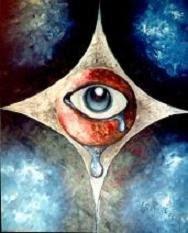 Olho Divino - Óleo sobre tela 50x70 cm