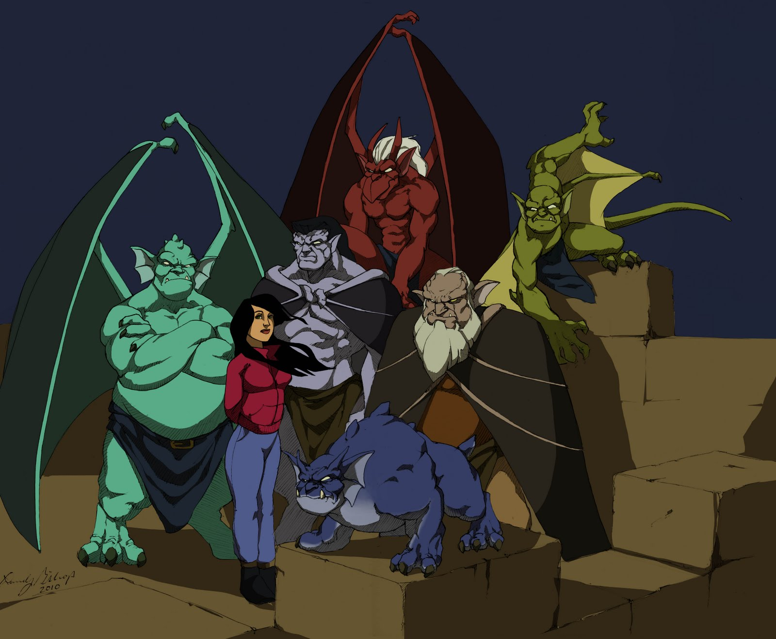 Here s the colored versionGargoyles Disney Characters