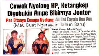 Headline Koran-koran Paling Ancur