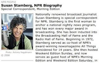 Stamberg on NPR