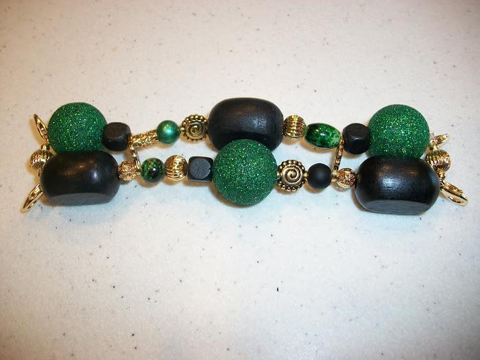 black/green glitter (W65)