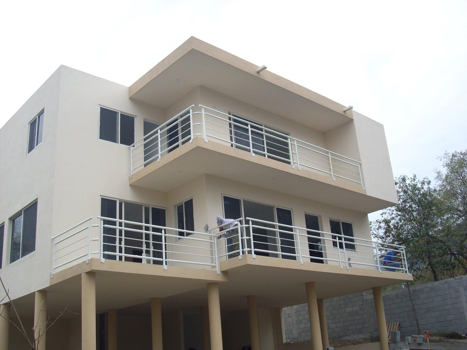 Barandal para balcón, estilo contemporáneo, Modelo RPPB-012