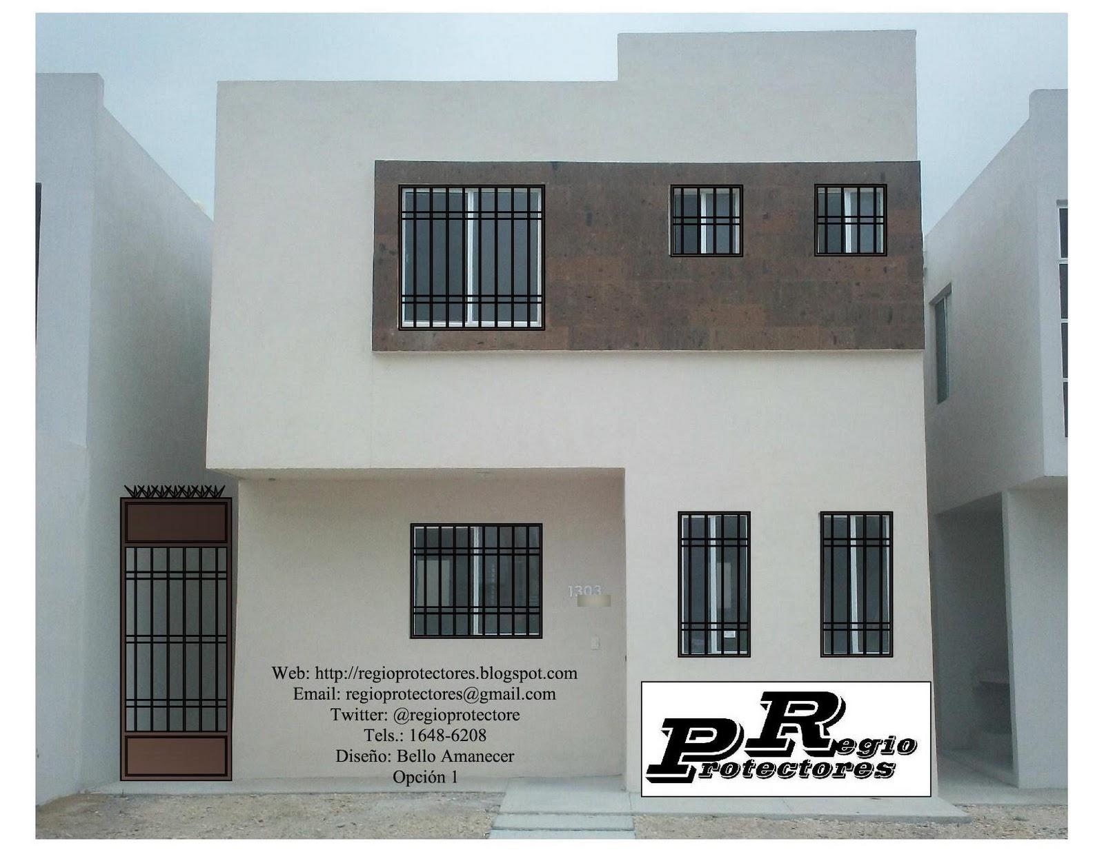 Foto montaje de protectores para ventanas y puertas, Fracc. Bello
