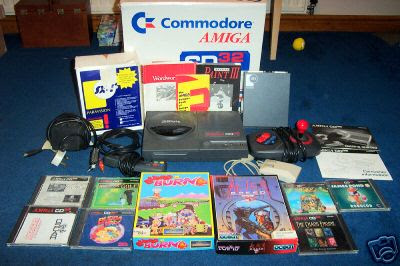 Commodore Amiga CD32 with SX-1 and games