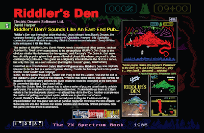 ZX Spectrum Book Riddler's Den