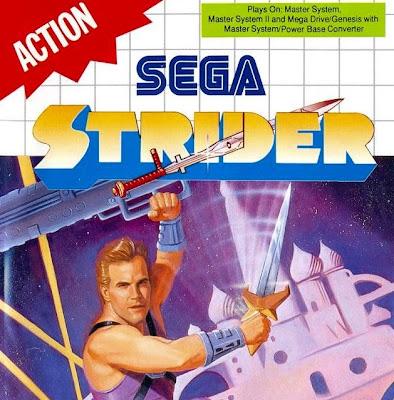Sega Strider SMS box