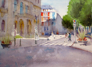 acuarela watercolor paisaje urbano