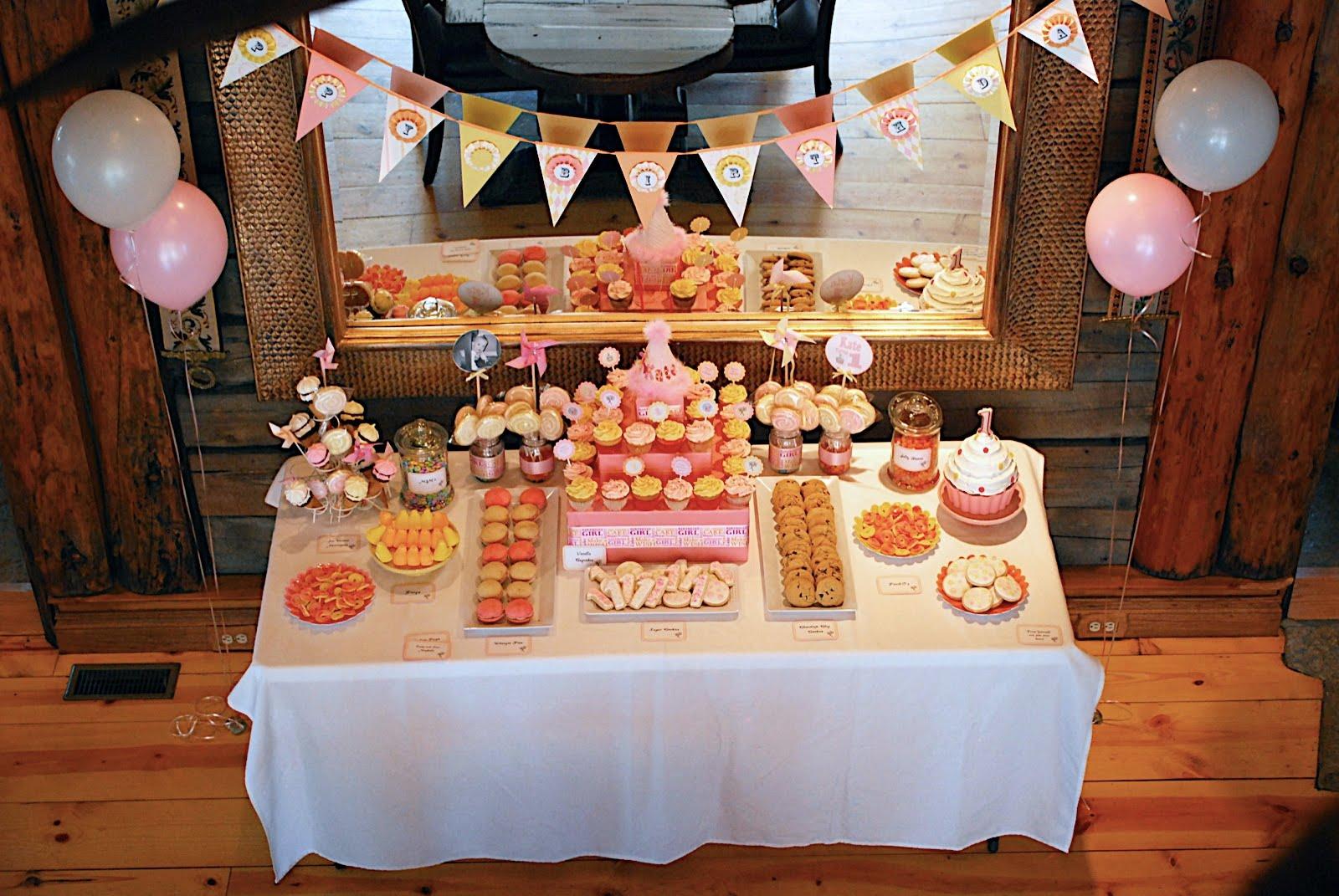 Occasional Cookies 1st Birthday Dessert Buffet