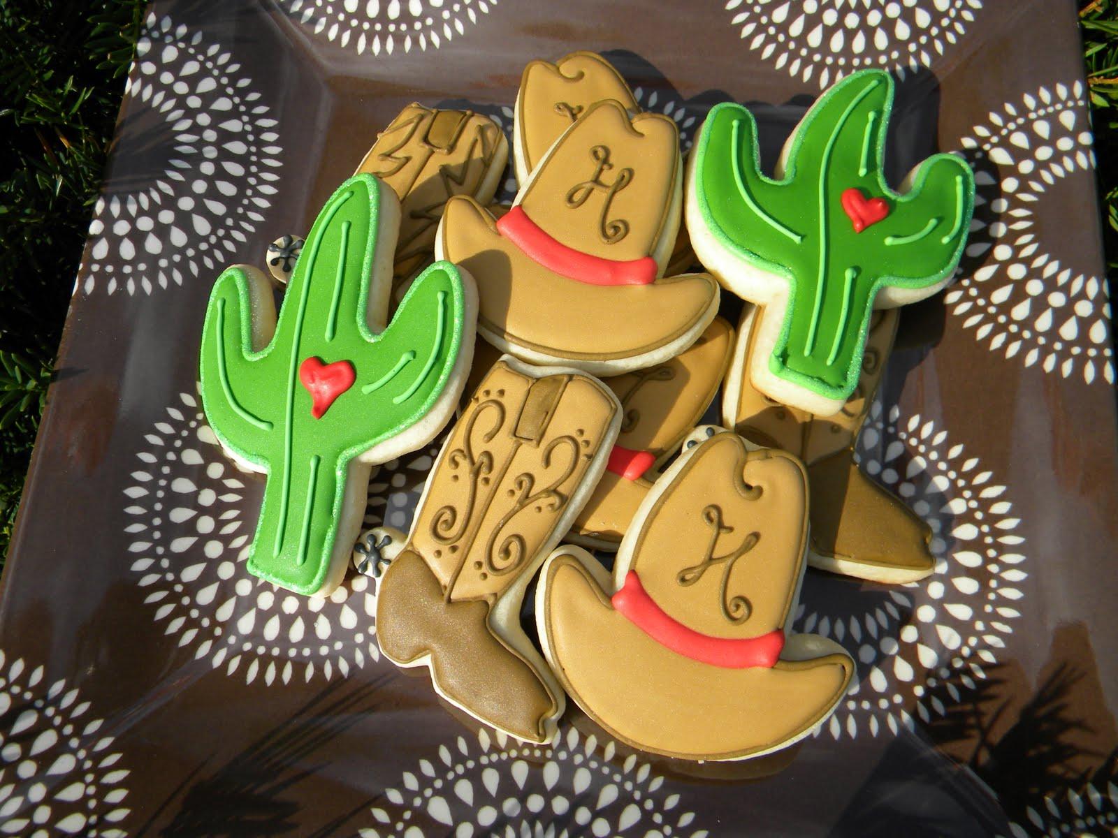 Occasional Cookies Cowboy Wedding Cookies