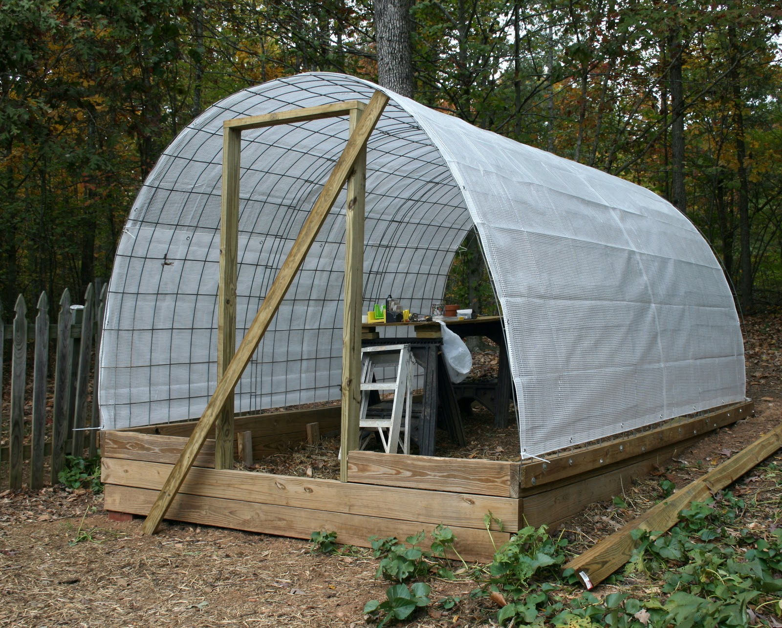 Hoop House Greenhouse In Ma Building Code Wrapped In Plastic