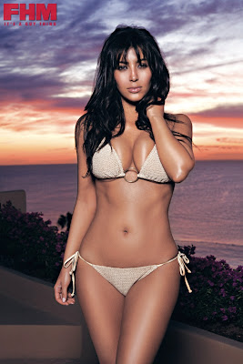 Kim Kardashian in South African FHM pictures