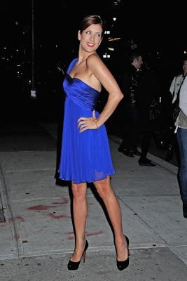 Kate Walsh in a Stunning Blue Dress image